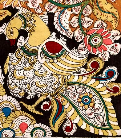 "Cotton Kalamkari Painting ""Tree of Paradise"""