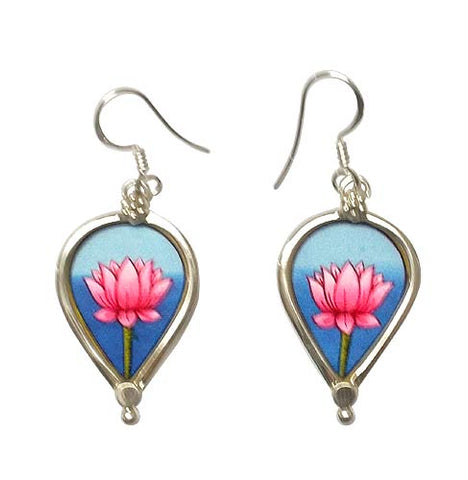 Handmade Earrings 'Sacred Lotus'