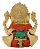 Chaturbhuj Ganesha Brass Idol