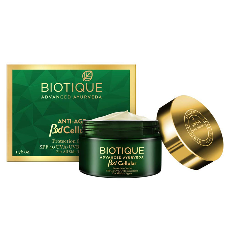 Biotique Bxl Cellular Protection Cream SPF 40 UVA/UVB Sunscreen, 50 g