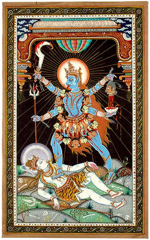 """Hail to Mother Kali"" Paata Folk Painting 30"""
