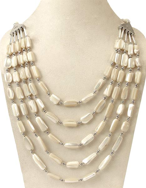 Strands of Love - Mother of Pearl Necklace