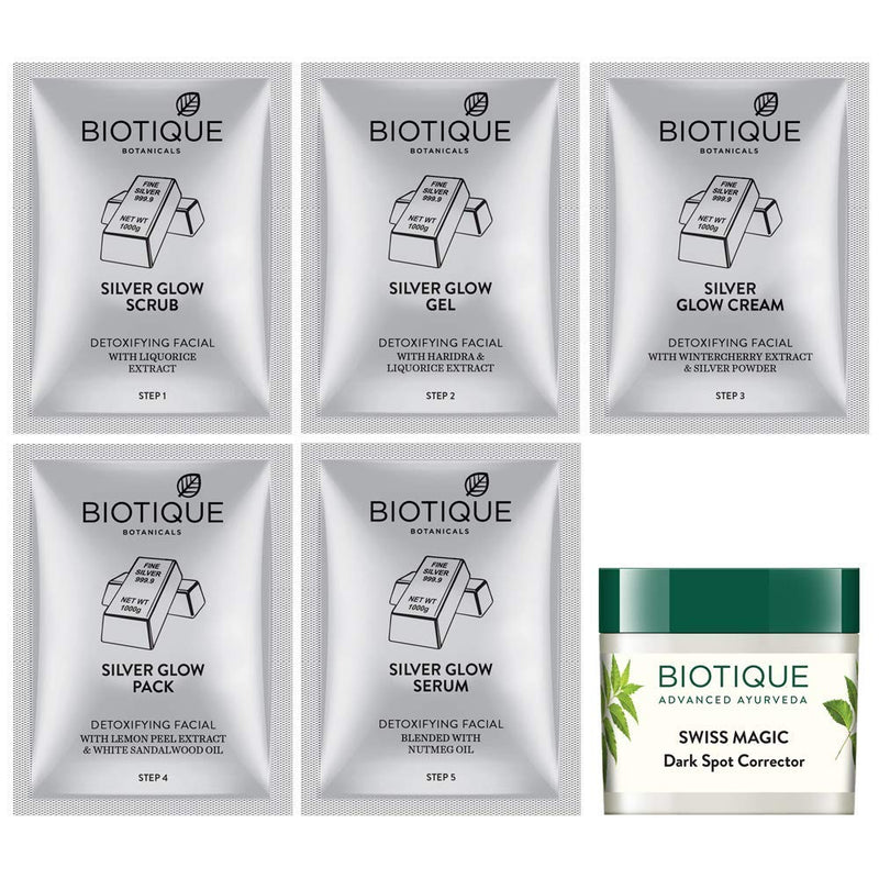 Biotique Bio Silver Facial Kit, 65g