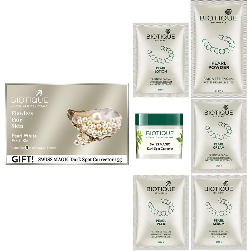 BIO PEARL WHITE FACIAL KIT 65GM