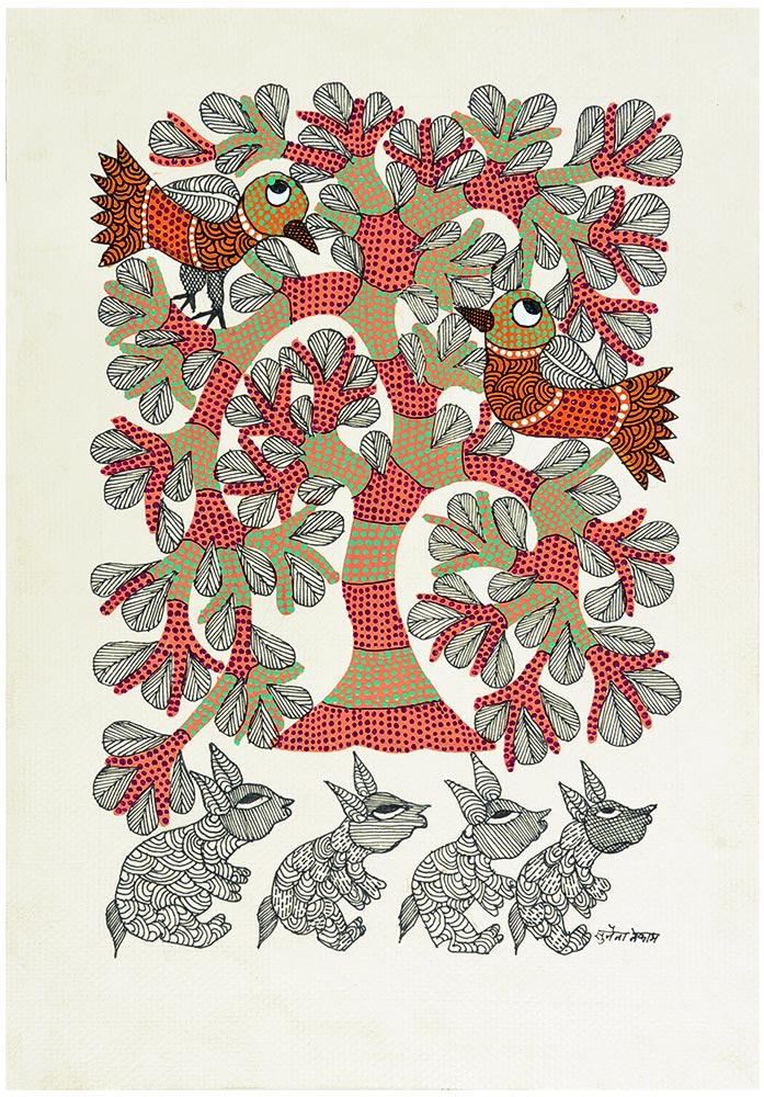 Tree of Life with Squirrels and Birds
