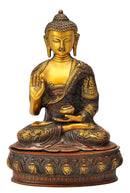Buddha Figurine with Carved Robe Depicting His Life
