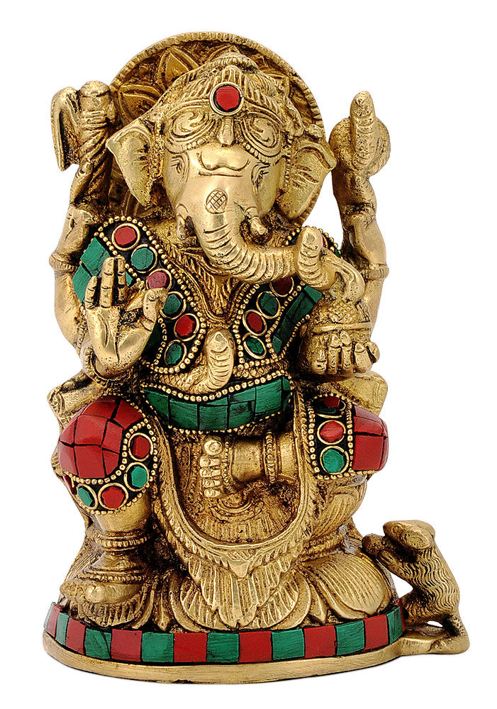 Ganesha Statue with Stones