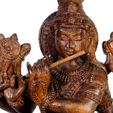Beautiful Lord Venu Gopala -Wood Sculpture