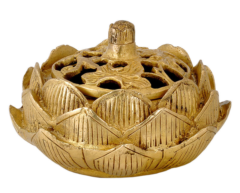 Brass Lotus Charcoal Burner