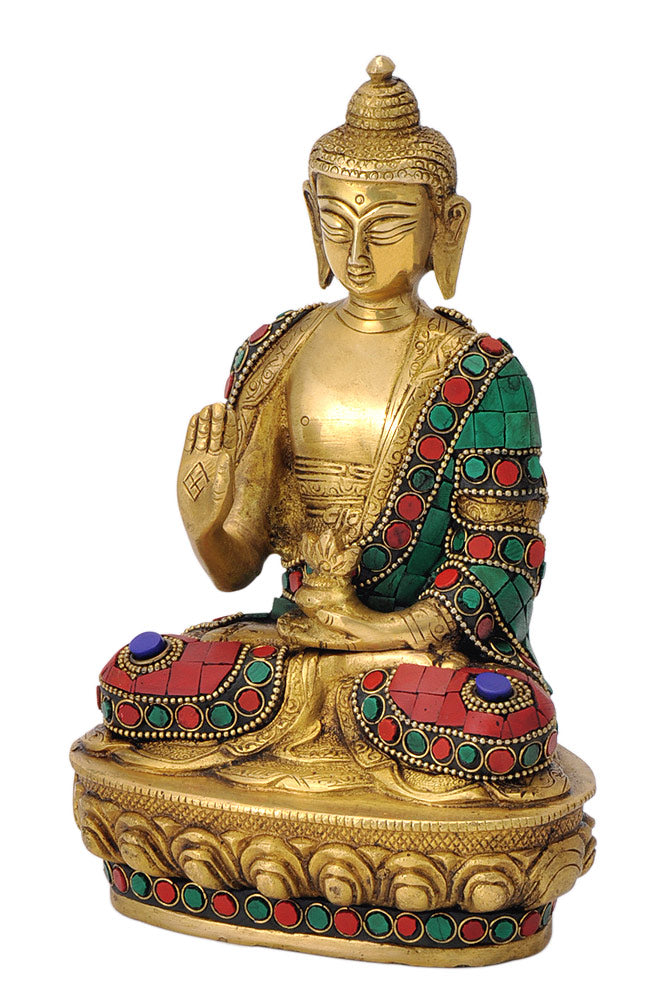 Hand Crafted Gautama Buddha with Colored Mosaic