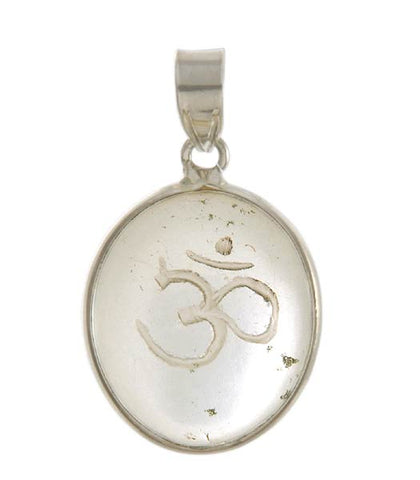 'Aum' The Universal Sound - Crystal Siver Pendant