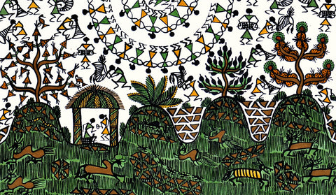 Warli Painting 'Dancing Women'
