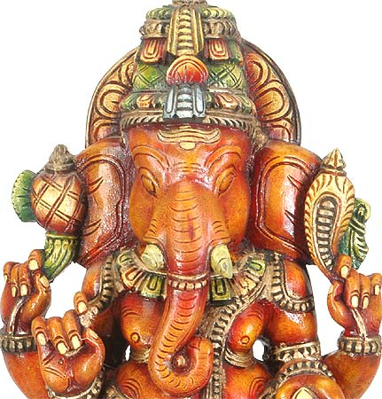 Lord of Success - Ganesha Wood Statue