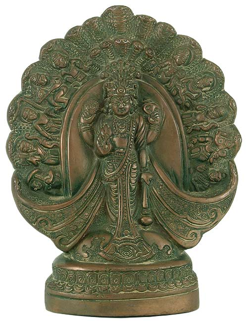 Vishnu Dashavtar - Antique Finishing Brass Wall Hanging