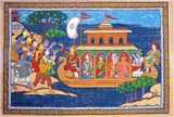 After a Successful Trip - Patachitra Silk Painting