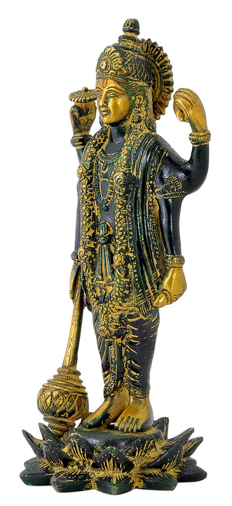Sri Vishnu - Brass Figurine 8.50""