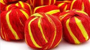 Mauli - Kalawa - Raksha Sutra with Two Natural Colours Yellow and red.(5 pcs)