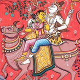 Lord Shiva gets married - Patachitra Painting