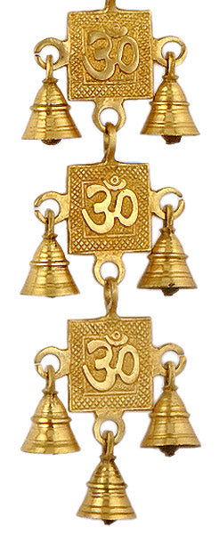 Auspicious Aum Brass Hanging Belt with Bells