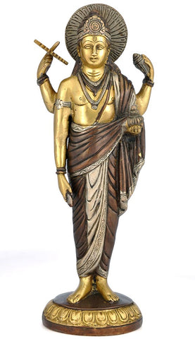 Lord Dhanvantari - Brass Sculpture