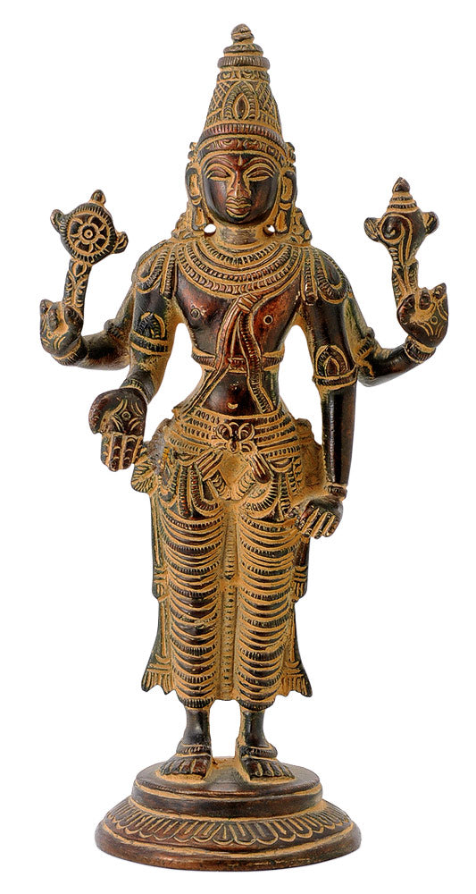 Sri Vishnu Antiquated Artwork Statue