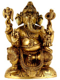 The Lord of Ganas - Brass Sculpture