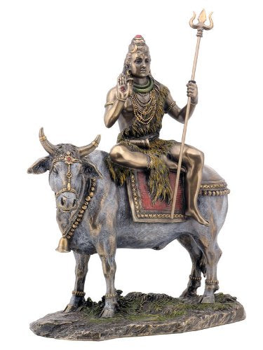 Shiva Seated on Nandi in Antique Bronze Finish