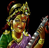 Mother Goddess Saraswati - Velvet Hand Painting
