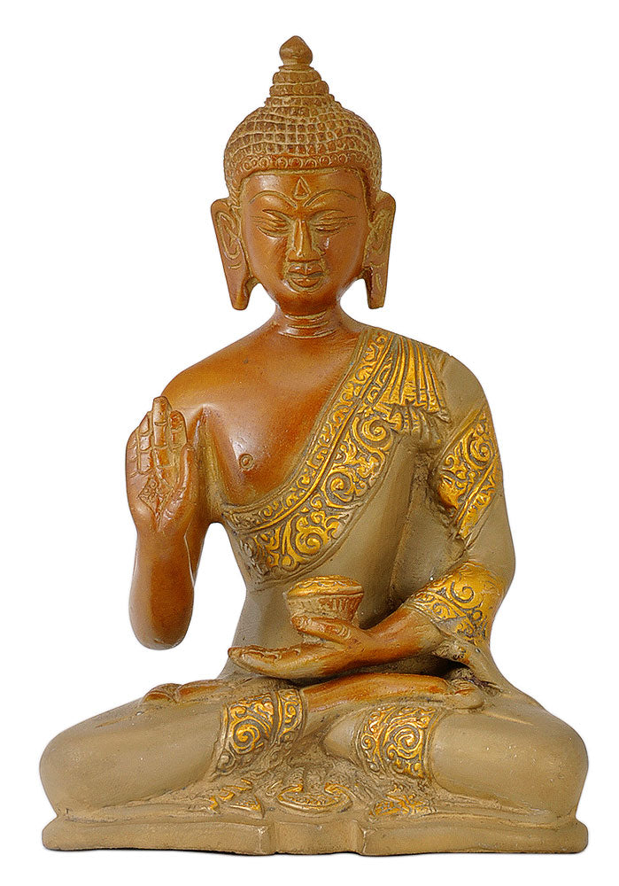 Antiquated Buddha Figurine