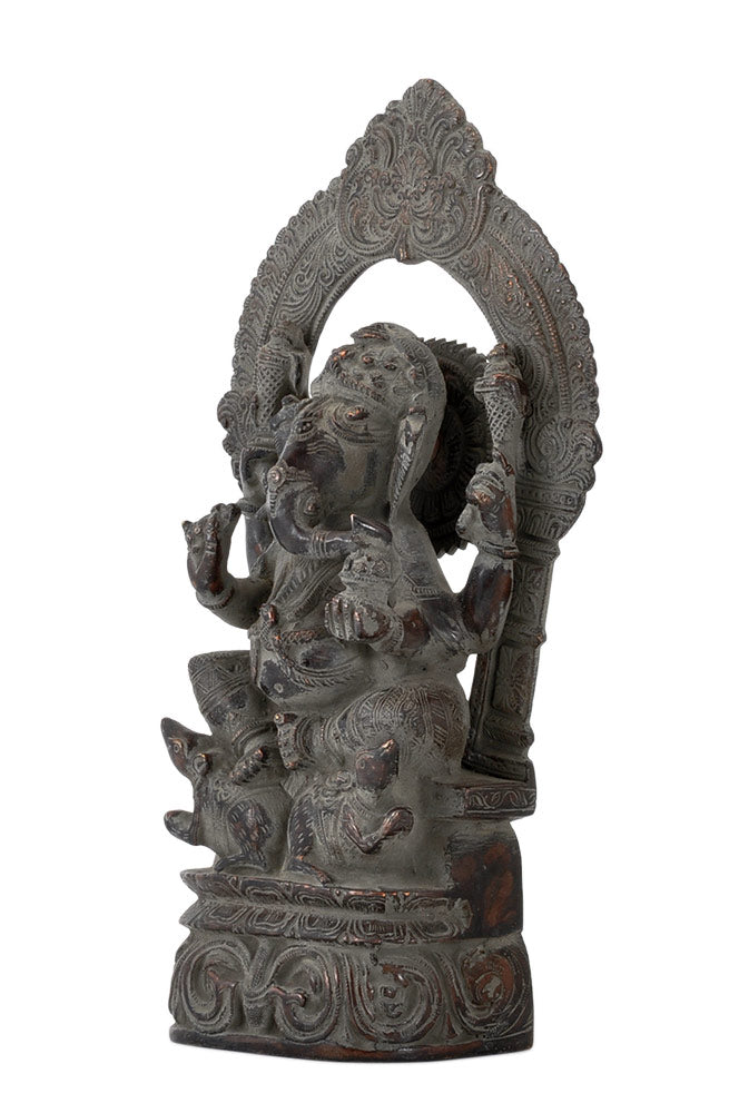 Brass Prabha Ganesha Rustic Bronze Finish