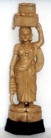 Lady of Malabar - Cedar Wood Sculpture