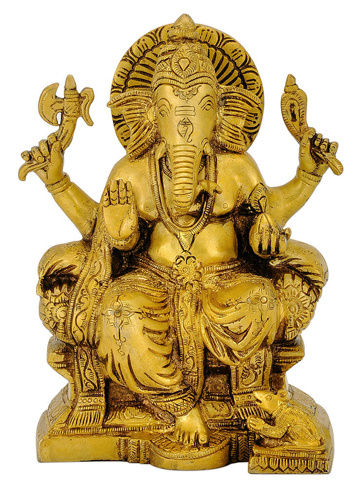 Lord Ganpati Seated on Throne