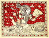 Flying Hanuman-Sri Kalahasti Painting