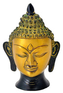 Decorative Buddha Head in Brass 6.25""