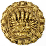 Panchmukhi Ganesha Wall Plaque 11.5""