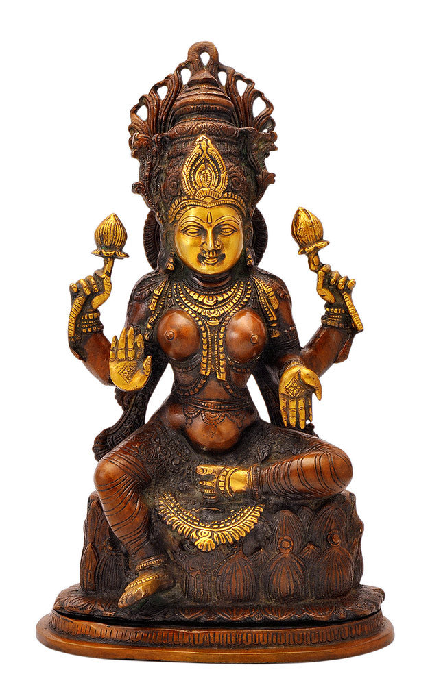 Goddess Mahalakshmi Seated on Lotus