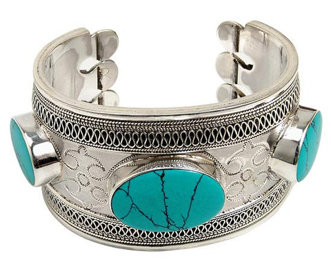 Sea Splendor - Tapered Cuff Bracelet