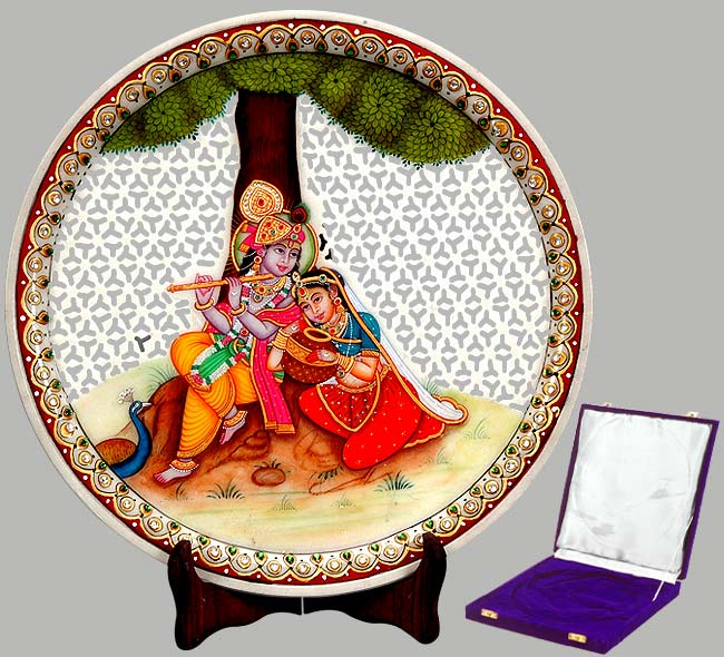 His Mesmerizing Tune - Painted Marble Saucer