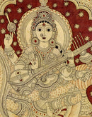 'Saraswati' Goddess of Arts - Kalamkari Painting