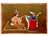 Krishna's Beloved - Batik Painting
