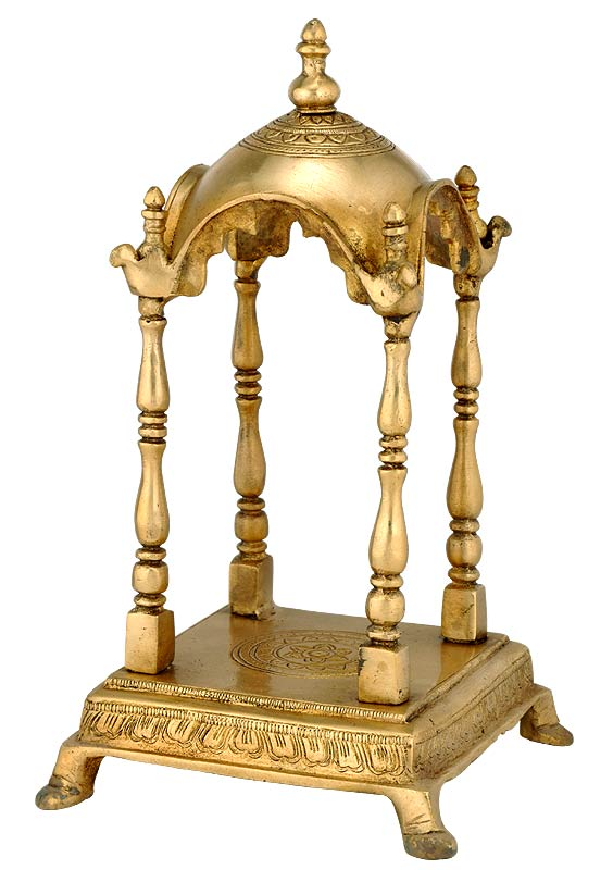 Brass Pooja Temple for Home Altar