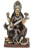 """Goddess Saraswati"" Goddess of Art - Brass Statue"