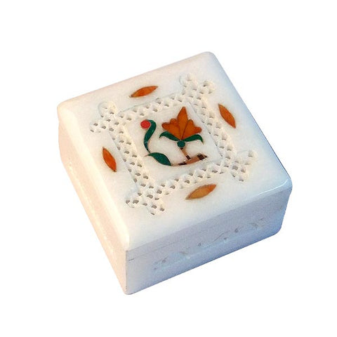 Stone Inlay Box 'Summer Flower'