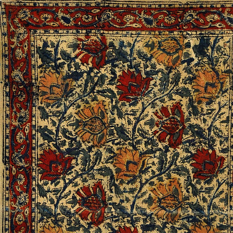 Warm Medley Transitional Floral Wool Area Rug