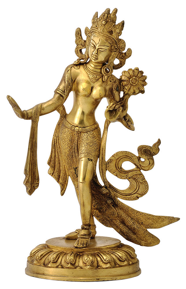 The Saviour Goddess Tara - Brass Figurine