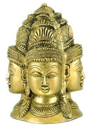 Four Head Shiva Mandal - Brass Statue