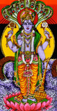 Lord Vishnu Print on Cloth with Sequin Work