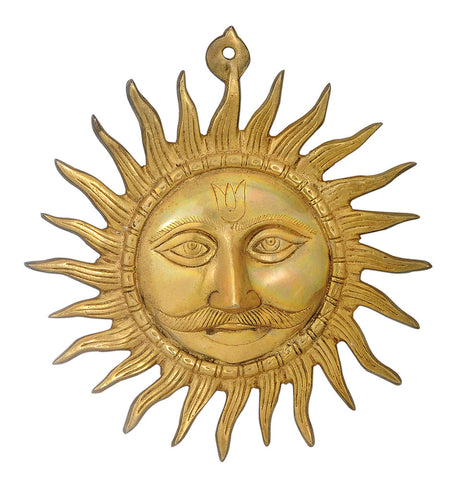 Brass Surya Wall Plaque