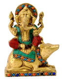 God Ganesha Seated on His Carrier Mouse