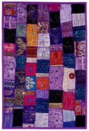 Night Lilacs - Patchwork Wall Hanging